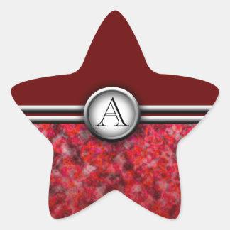 Monograma adaptable: Cromo Calcomanías Forma De Estrella Personalizadas