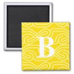 Monograma adornado de Knotwork - letra B Imán De Nevera