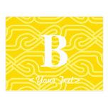 Monograma adornado de Knotwork - letra B Postal