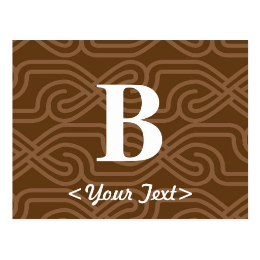 Monograma adornado de Knotwork - letra B Postales