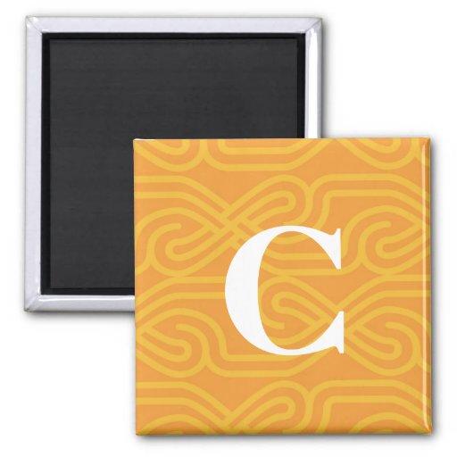 Monograma adornado de Knotwork - letra C Iman Para Frigorífico