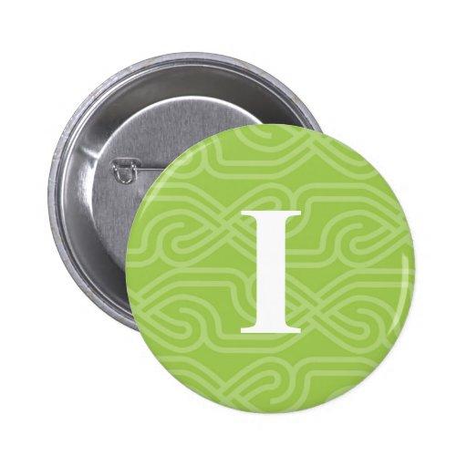 Monograma adornado de Knotwork - letra I Pins