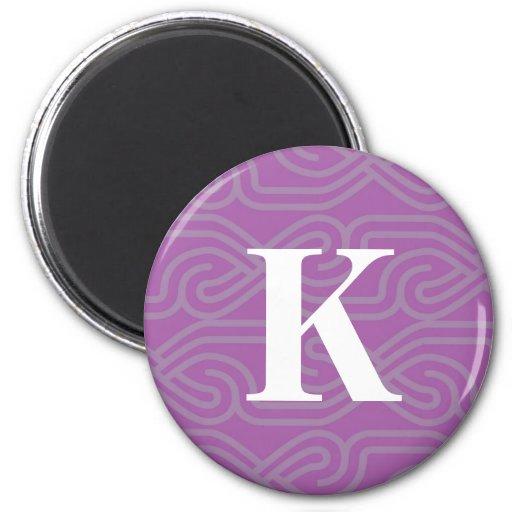 Monograma adornado de Knotwork - letra K Iman De Frigorífico