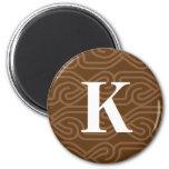 Monograma adornado de Knotwork - letra K Imán