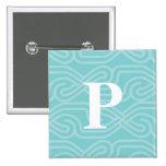 Monograma adornado de Knotwork - letra P Pin