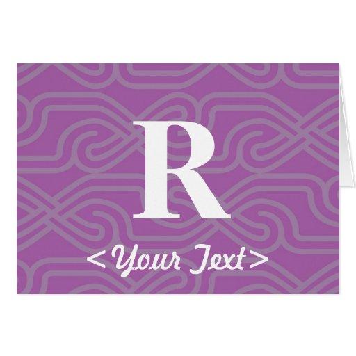 Monograma adornado de Knotwork - letra R Tarjetón
