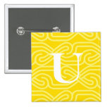 Monograma adornado de Knotwork - letra U Pins