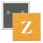 Monograma adornado de Knotwork - letra Z Pins