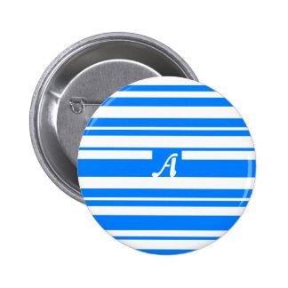 Monograma al azar azul y blanco azul de las rayas