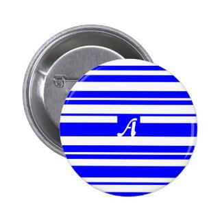 Monograma al azar azul y blanco de las rayas