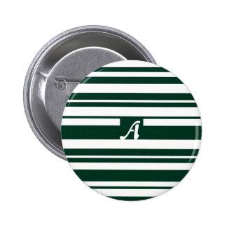 Monograma al azar verde oscuro y blanco de las chapa redonda 5 cm
