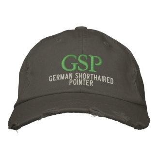 Monograma alemán del indicador de pelo corto gorras bordadas