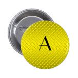 Monograma amarillo de los lunares pins