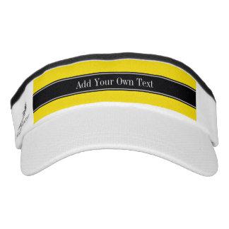 Monograma amarillo, negro sólido del nombre de la visera