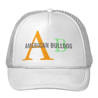 Monograma americano de la raza del dogo gorra