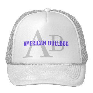 Monograma americano de la raza del dogo gorras de camionero