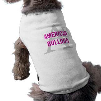 Monograma americano de la raza del dogo ropa perro