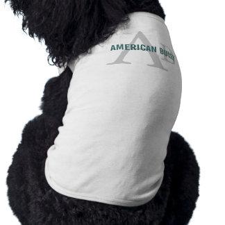Monograma americano de la raza del matón playera sin mangas para perro
