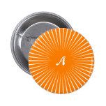 Monograma anaranjado y blanco de los Sunrays Pins