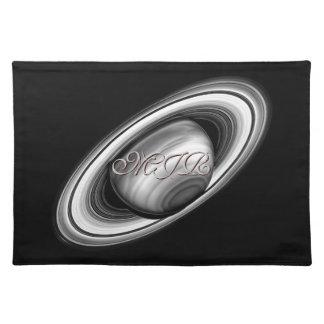 Monograma, anillos del gigante de gas Saturn - Sis Mantel Individual