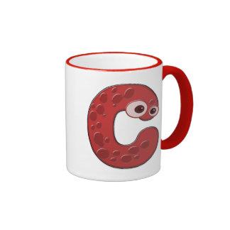 monograma animal - C Taza De Café