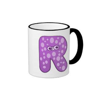 monograma animal - R Tazas De Café