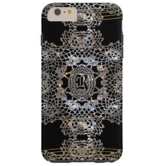 Monograma aristocrático 6/6s más funda para iPhone 6 plus tough