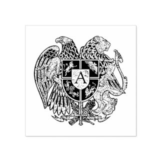 Monograma armenio del escudo de armas sello de caucho