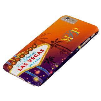 Monograma atractivo de Las Vegas Funda Para iPhone 6 Plus Barely There