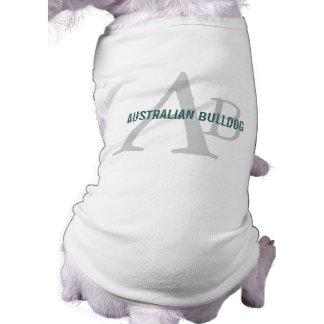 Monograma australiano del dogo ropa de perros