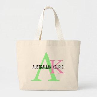 Monograma australiano del Kelpie Bolsa Lienzo