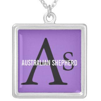 Monograma australiano del pastor colgante cuadrado