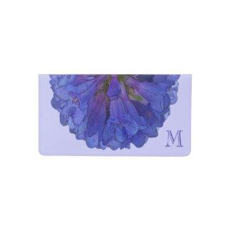 Monograma azul de la flor del Penstemon Funda Para Chequera