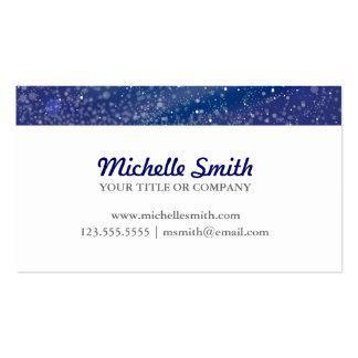Monograma azul de la noche estrellada tarjetas de visita