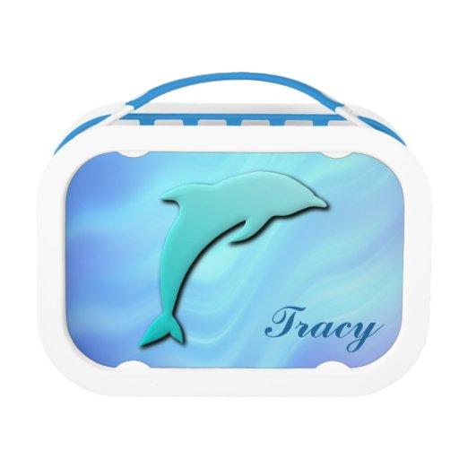 monograma azul del delfín del efecto 3D