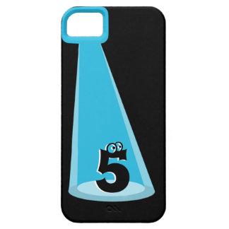 Monograma azul del haz luminoso iPhone 5 coberturas