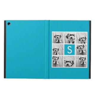Monograma azul del personalizado del collage de la
