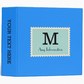 """Monograma azul elegante del color de Dodger Carpeta 2"""""""