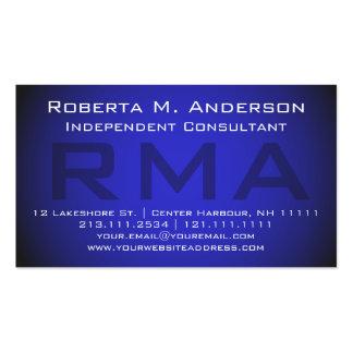 Monograma azul elegante del consultor tarjetas de visita