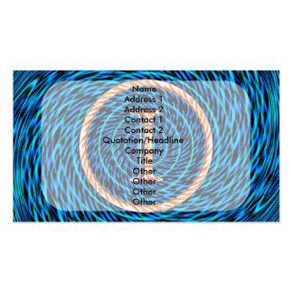 Monograma azul espiral de marea I Tarjetas De Visita