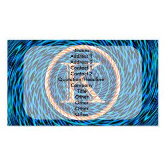 Monograma azul espiral de marea K Tarjetas De Visita
