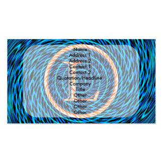 Monograma azul espiral de marea L Tarjetas De Visita