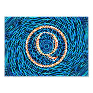 Monograma azul espiral de marea Q Comunicado Personalizado