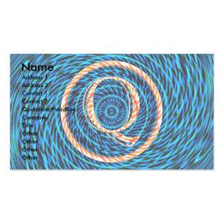 Monograma azul espiral de marea Q Tarjetas De Visita