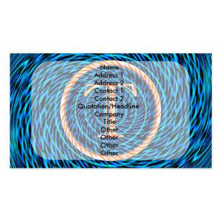Monograma azul espiral de marea T Tarjetas De Visita