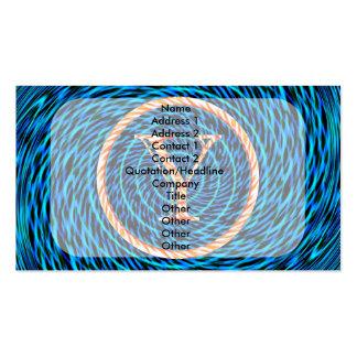 Monograma azul espiral de marea Y Tarjetas De Visita