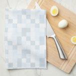 """Monograma azul """"L"""" toalla del remiendo del niño"""