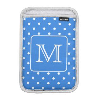 Monograma azul y blanco del modelo de lunar Aduan Fundas Para iPad Mini