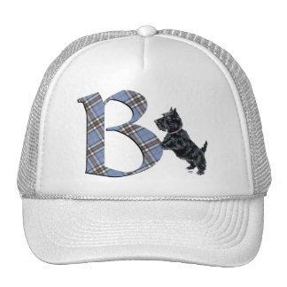 Monograma B de Terrier del escocés Gorra