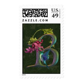 Monograma B del colibrí Franqueo
